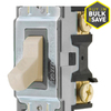 Hubbell 20-Amp Light Almond Light Switch
