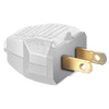 Hubbell 15-Amp 125-Volt White 2-Wire Plug