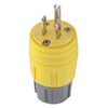 Hubbell 15 Amp 125-Volt Hi-Visibility Yellow 3-Wire Grounding Plug