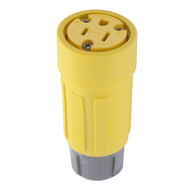 Hubbell 15-Amp 125-Volt Yellow 3-Wire Grounding Connector
