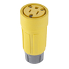 Hubbell 15 Amp 125-Volt Hi-Visibility Yellow 3-Wire Grounding Connector