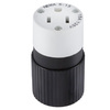Hubbell 15 Amp 125-Volt Black/White 3-Wire Connector