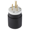 Hubbell 15 Amp 125-Volt Black/White 3-Wire Plug