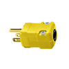 Hubbell 15 Amp 125-Volt Hi-Visibility Yellow 3-Wire Plug