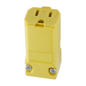 Hubbell 15-Amp 125-Volt Hi-Visibility Yellow 3-Wire