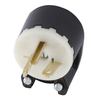Hubbell 20 Amp 250-Volt Black and White 3-Wire Plug