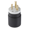 Hubbell 20 Amp 250-Volt Black/White 3-Wire Grounding Plug