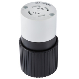 Hubbell 30-Amp 125/250-Volt Black/White 4-Wire Grounding Connector