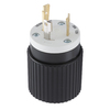 Hubbell 30 Amp 125-Volt Black/White 3-Wire Grounding Plug
