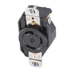 Hubbell 30 Amp 125-Volt Black 3-Wire Grounding Connector