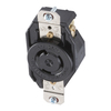 Hubbell 20 Amp 250-Volt Black 3-Wire Grounding Connector