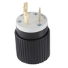 Hubbell 30 Amp 250-Volt Black/White 3-Wire Grounding Plug