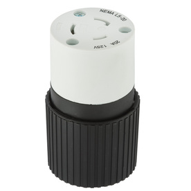 Hubbell 20-Amp 125-Volt Black/White 3-Wire