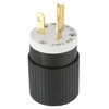 Hubbell 20 Amp 125-Volt Black/White 3-Wire Grounding Plug