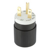 Hubbell 15 Amp 250-Volt Black/White 3-Wire Grounding Plug