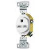 Hubbell 15-Amp 250-Volt White Indoor Round Wall Outlet