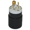 Hubbell 15-Amp 125-Volt Black 3-Wire Grounding Plug