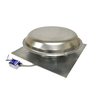 Master Flow 1,250-CFM Silver Galvanized Steel Electric Power Roof Vent