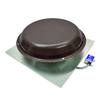Master Flow 1,250-CFM Brown Galvanized Steel Electric Power Roof Vent