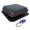 Master Flow 900-CFM Black Plastic Solar Power Roof Vent
