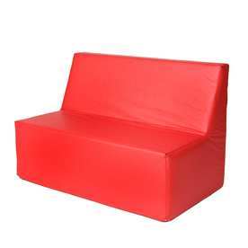 Straight Back Sofa (Red)