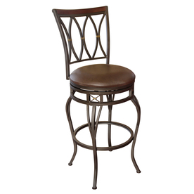 allen + roth Hannah Dark Champagne Bronze 25-in Counter Stool FBS121-25