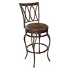 lowes deals on allen + roth Hannah Dark Bronze 25-in Counter Stool