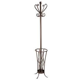 Oil-Rubbed Bronze 8-Hook Coat Stand