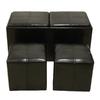 Lowes.com deals on 3-Piece Black Storage Ottoman Set FS1051
