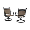 Garden Treasures Set of 2 Potters Glen Aluminum Swivel Rocker Patio Dining Chairs