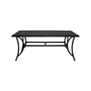 Garden Treasures Potters Glen 68.27-in x 36.77-in Aluminum Rectangle Patio Dining Table