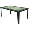 Garden Treasures Buckner Terrace 68.3-in x 40.2-in Aluminum Rectangle Patio Dining Table