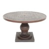 allen + roth Meridale 47.6-in x 47.6-in Resin Round Patio Dining Table