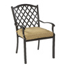 allen + roth Set of 2 Shadybrook Bronze Strap Seat Aluminum Stackable Patio Dining Chairs