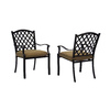 allen + roth Set of 2 Shadybrook Aluminum Patio Dining Chairs