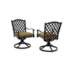 allen + roth Set of 2 Shadybrook Aluminum Swivel Rocker Patio Dining Chairs
