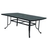 allen + roth Shadybrook 72.5-in x 42.4-in Aluminum Rectangle Patio Dining Table