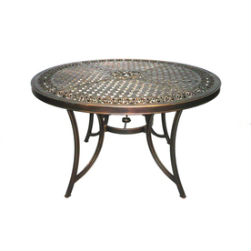 Wrought iron hanover amp devonshire round table tables patio furniture