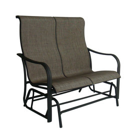 Lowes garden treasures sling burkston 2 person double for Burkston sling chaise lounge