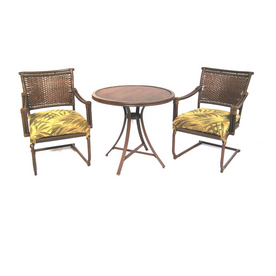 Shop Garden Treasures 3 Piece Tivanos Patio Furniture Set