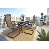 allen + roth Tenbrook 71.06-in x 40.35-in Aluminum Rectangle Patio Dining Table