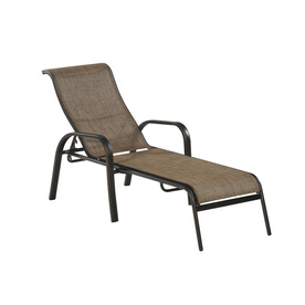 Shop allen roth tenbrook sling seat aluminum patio for Allen roth steel patio chaise lounge