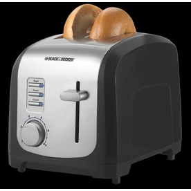 BLACK & DECKER 2-Slice Black Toaster