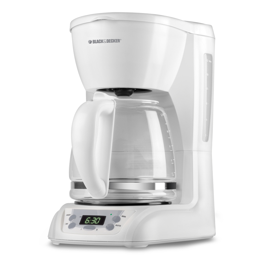 Shop BLACK & DECKER White 12-Cup Programmable Programmable Coffee Maker at Lowes.com