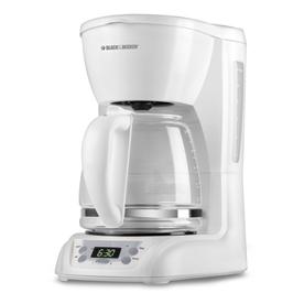 BLACK & DECKER White 12-Cup Programmable Programmable Coffee Maker