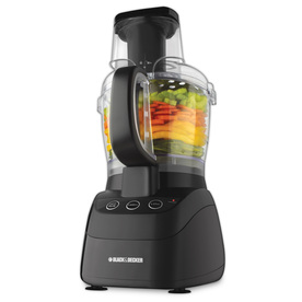 BLACK & DECKER 10-Cup 500-Watt Black 2-Blade Food Processor