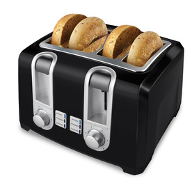 BLACK &amp; DECKER 4-Slice Metal Toaster