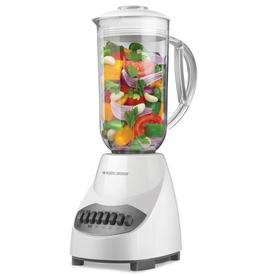 BLACK & DECKER 48-oz White 10-Speed 450-Watt Pulse Control Blender