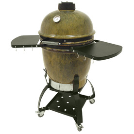 Bayou Classic Ceramic Cypress Leaf Charcoal Grill
