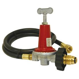 Bayou Classic 3/8-in 0.63-in Dia x 48-in L High-Output Propane Tank Regulator with Hose